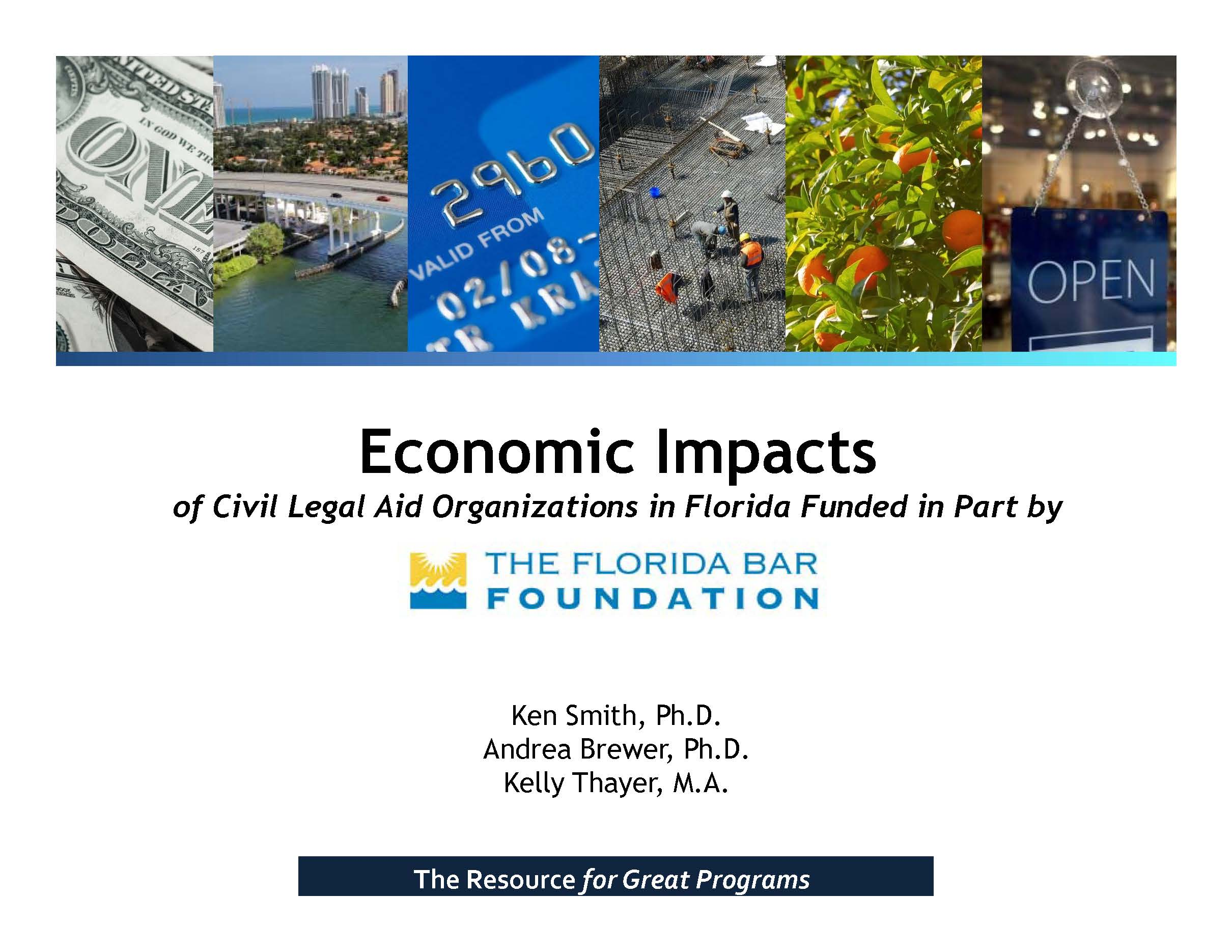 Economic Impacts of Civil Legal Aid Organizations in Florida Presentation